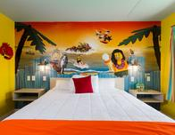 The colorful rooms at LEGOLAND Florida's Beach Retreat were a huge hit with the kids!
