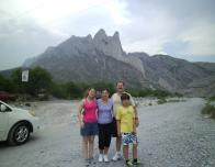 La Huasteca (from left to right: me, my mom, my dad, and my brother)