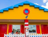 Stay in LEGOLAND Florida's Beach Retreat - and feel like you're staying in the middle of a LEGO village.