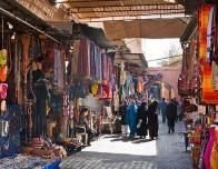 A Picture of a Street in the Old City of Marrakesh