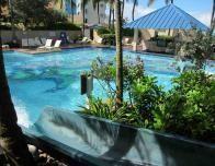Marriott Pool and Slide at the San Juan resort.