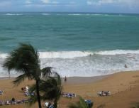 View from the Marriott Terrace of Condado's beaches.