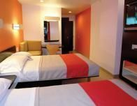 Motel 6 Phoenix Project renovated room design.