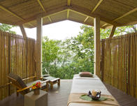 Outdoor treatment room at the Onda Spa at Andaz Costa Rica.