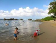 Hilton Condado Plaza Beach has calmer, quieter surf, perfect for non-swimmers.