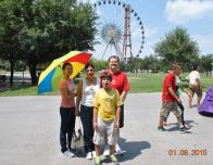 Parque Fundidora (Founder Park) (from left to right: me, my mom, my brother, and my dad)