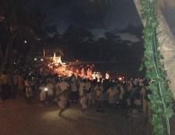 Pre-Dawn Procession on the Beach
