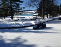 Ice karting is another fun sport at Valcartier & a good way for kids to learn driving skills.