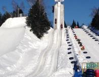 Everest is just as steep a tubing run as it looks at Village Vacances Valcartier.