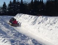 Tubing in groups is the most fun part of Valcartier, because all ages feel safe trying it.