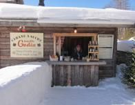 The Sugar Shack producing maple taffee at the Ice Hotel is very famous in Quebec.