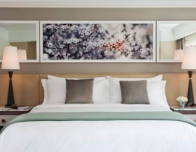 A newly-renovated guest room at Loews Regency