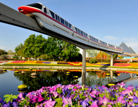 Hop on the monorail for a Disney adventure.