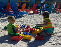 Spend some time building in the sand at LEGOLAND Beach Retreat in Florida