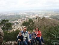 Overlooking the Moorish Castle outside Lisbon