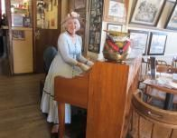 Pianist Squeek Steale plays tunes at Bucket of Blood Saloon.