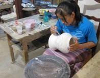 Talavera being made at a Puebla factory.