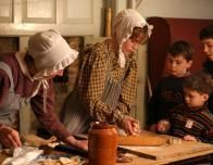 Baking Demonstration at Sturbridge Village, Massachusetts