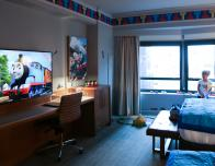 Bedroom of Thomas & Friends suite at the Hilton