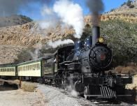 Steam Train takes off from Virginia City to tour Nevada.