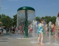 Fun at the Splash Pad at Tyler Place Family Resort, Vermont