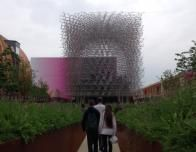 The UK pavilion is thought provoking.