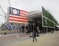 USA's pavilion featured a sustainable green wall.