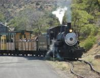 Ride The V and T Railroad with rail fans and history buffs.