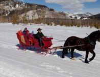 horse drawn sleigh ride, colorado