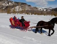 horse drawn sleigh ride, colorado