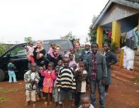 Group of volunteers in Kenya