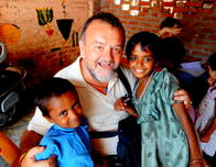 Volunteer uncle at an orphanage in Delhi