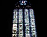 Stained Glass Inside the Notre Dame Cathedral