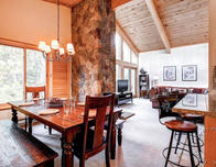Breckenridge condo living area; photo c. Airbnb.com
