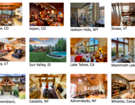 Airbnb has thousands of home rentals in major N. American ski resorts.