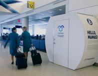 Mamava nursing pods at airport help breastfeeding moms.