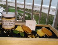 Omni Amelia Island room service tray with honey cakes.