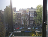 Canal view from Canal House Hotel, Amsterdam.