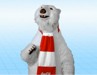 Famous Coca Cola polar bear at World of Coca Cola