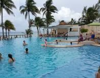 Beachfront pool and play zone at Azul Fives, Riviera Maya.