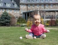 Baby on the Lawn at Skytop Lodge