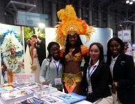 Islands of The Bahamas booth had a warm welcome for chilly New Yorkers at the NY Times Travel Show.