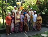 James Murphy's class in Bali dressed for a prification ceremony
