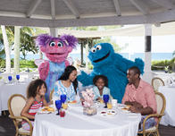 Abby Cadabby & Grover from Sesame Street visit kids at Beaches Turks & Caicos.