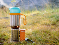 BioLite CampStove with KettlePot heating on top.