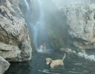 Swimming in Goldbug Hotsprings