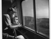 Watching the World from the Window of a Train