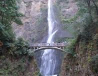 Bridge Across Beautiful Multnomah Falls