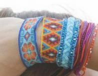 Huichol bracelet from the locals' co-op Gallery Tanana in Sayulita.