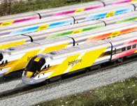 Brightline, 5 new trains; photo courtesy Brightline